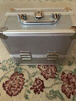 Pre-owned Silver/ W/ Handle/make Up Storage Unit/ Several Compartments/jewlery