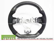 Steering Wheel Carbon Fiber w/ Alcantara Red Stitching Fit 15-18 Subaru WRX STi