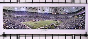 Minnesota Vikings Metrodome - 16 Yard Line Panorama Print by Rob Arra