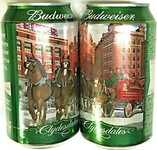 Budweiser Clydesdales #2 green St. Louis 12 oz 667640 empty beer can Bottom Open
