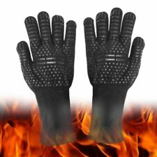 1472°F Extreme Heat Resistant Gloves Silicone BBQ Grilling Cooking Oven Gloves