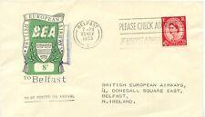 "2469 1953 BEA First Flight ""LONDON - BELFAST"" BEA-Airways-Letterservice 8 D FDC"