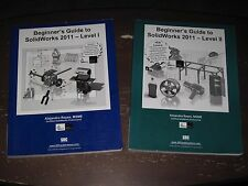 LOT OF 2 BEGINNINER'S GUIDE TO SOLIDWORKS 2011~~LEVELS I & II~~FREE SHIPPING!!!