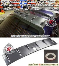 VG-Style Roof Fin Spoiler Wing (PP) Fits 08-14 Subaru Impreza WRX STi 4dr