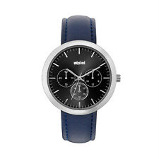 Unlisted Kenneth Cole Men's Analog Black Leather Band Watch UL1954