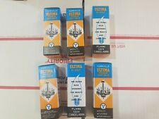 6 Pack 60 Watt 130 Volts Clear Candelabra Base (E12) Flame Tip Chandelier Bulbs