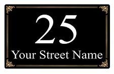 Metal Aluminium Plaque Vintage Retro Personalised Address House Door Sign 23x15