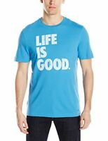 Life is Good Mens Crusher Tee Stack Block T Shirt Size XXL Blue