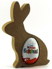 MDF KINDER Bunny Rabbit Egg porta uovo di Pasqua Regalo Vuoto Craft Forma in legno