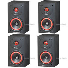 "Two Pair 4 Cerwin Vega SL-5M Bookshelf Speakers 5 1/4"" 2-Way Set Theater 125 Wt"