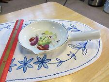 """Fire proof Porcelain """"Le Faune"""" Lourioux France Sauce Pan with Handle"""