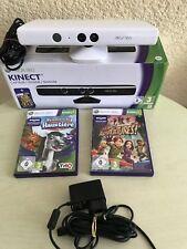 Microsoft Xbox 360 KINECT SENSOR-LEISTE Weiß + KINECT Spiele . Blitzversand!!!