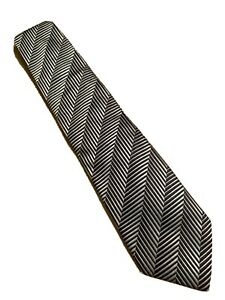 "Euc Canali THICK Silver Geometric Men's Silk Tie Made In Italy 58"" 3.75"""