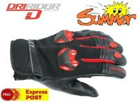 NEW DRIRIDER Fusion Motorcycle Gloves XL RED SUMMER Short cuff Road CLEARANCE!