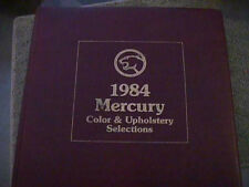 SCARCE 1984 MERCURY DEALER COLOR AND UPHOLSTERY SHOWROOM ALBUM