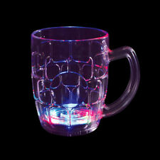 5 LED Beer Mugs Flashing Blinky Lite-Up Barware Cups