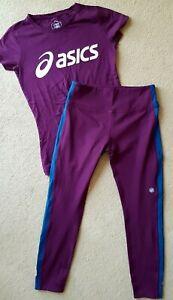 ASICS Ladies Running Set Leggings + Top Size 8