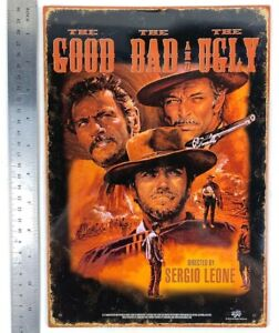The Good The Bad and The Ugly Tin Metal Sign Reproduction Eastwood Man Cave Gift