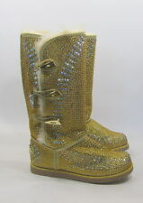 NEW Urban Glitter high Gold  Rhinestones  winter Mid-calf sexy boots  Size  7.