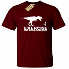 Mens Exercise some motivation required T Shirt Funny gym fitness training lazy