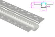 Profilo Canalina Barra Alluminio Incasso A Muro Alette Scomparsa Per Bobina Led