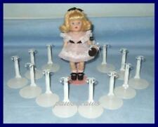 "12 White Kaiser 1101 Miniature Doll Stands for 5-1/2"" MINI GINNY"