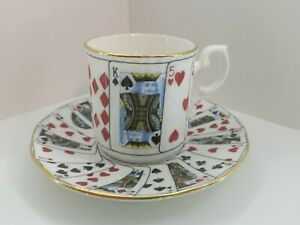 Elizabethan Staffordshire England Fine Bone China Cut For Coffee Cup And Saucer