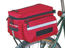 Bushwhacker Mesa Red Rear Rack Bike Bag Bicycle Trunk Cycling Pannier Pack Case