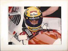 FORMULA 1 Foto Originale Ayrton Senna nel cokpit SPL