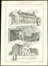 1889 Antique Print SURREY SLYFIELD HOUSE Stoke D'Abernon Cobham Fetcham (253)