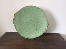 "Royal Albert Bone China England Gossamer Green Serving Cake plate eared 9.5"""