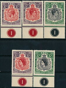 BRITISH KUT - TANGANYIKA 1912 - 1952 KODI, FORGERY SET OF 5 UM/NH REVENUES #M596