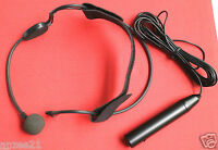 XLR 3Pin Phantom Power Headworn Headset Microphone for H4N Mixing Console record