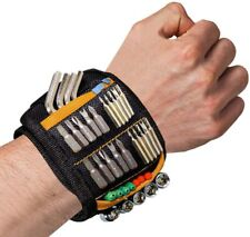 Magnetic Wristband Tool Belt with 15 Strong Magnets for Holder Holding Screws