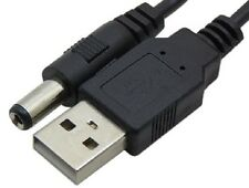 USB to DC 5v 1A 1000mA 5.5mm/2.1 power plug charger cable Lead 24AWG 1m (1.2m)