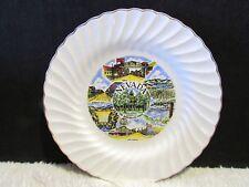 "10"" Nevada State Sheffield Bone White Chine Decorative Plate, Collectible"