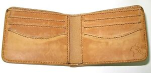 Saddleback Leather MEDIUM BIFOLD WALLET Tobacco Brown Vegetable-Tanned OLD STYLE