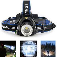 XML-T6 LED Zoomable Headlamp Waterproof Headlight Head Torch Light Flashlight