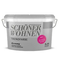 SCHÖNER WOHNEN Trendfarbe Wandfarbe Deckenfarbe dreamy 2,5 l