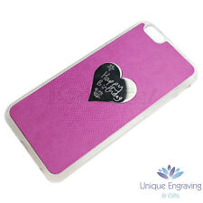 Personalised Photo/Text/Logo Engraved Heart iPhone  6 Case - Mothers Day Gift!