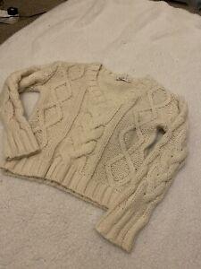 Nakd Na-kd Cream Knit Jumper Sweater Size S/M
