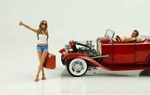 Anhalter Set Hitchhiker Figur Figuren 1:18 Figures American Diorama  / no car