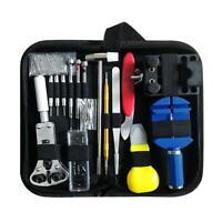 147-tlg/Set Pro Uhrmacherwerkzeug Uhr Werkzeug Tasche Reparatur Set Uhrwerkzeug