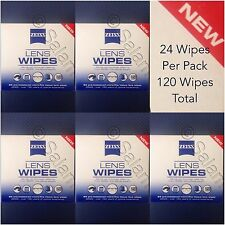Carl Zeiss Lens Cleaner 24 Wipes Per Pack 6 X 5 Optical Eye Glasses Jena 120 ct