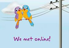 MAGNET Humor Fridge Birds Line WE MET ONLINE