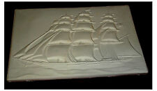 Cool 3 masted schooner Flat Tile Slump Fusing stained glass kiln mold
