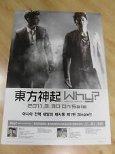 TOHOSHINKI - WHY? SINGLE [ORIGINAL POSTER] TVXQ *NEW*