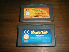 LOT 2 JEUX NINTENDO GAME BOY ADVANCE SHREK 2 + SHARK TALE (LE GANG DES REQUINS)