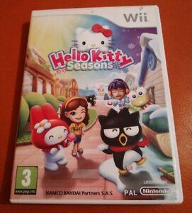 NINTENDO WII GAME HELLO KITTY SEASONS NICE CONDITION WITH MANUAL NAMCO BANDAI