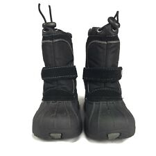 Totes Kids Trent Black Winter Snow Shoes Size 5Med Used